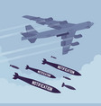 bomber and notification bombing vector image vector image