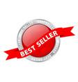 button banner best seller stock vector image vector image