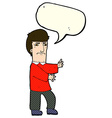 cartoon grumpy man with speech bubble vector image vector image