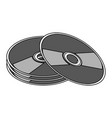 cd compact disk icon image vector image vector image