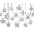 christmas background with ball doodle decor vector image vector image