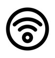 circle wifi icon outline style vector image