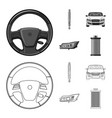 design of auto and part icon collection of vector image