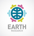 Earth research or care logo template Flat colors vector image