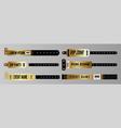 events bracelets golden entrance key for vector image vector image