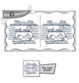find 9 differences game library vector image vector image