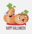 flat halloween pumpkin funny cartoon vector image vector image