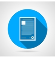 Flat round icon for document vector image vector image