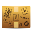 Fragile box delivery vector image vector image