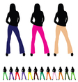 girl set color vector image vector image