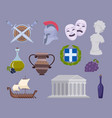 greece collection traditional authentic cultural vector image vector image