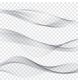 grey soft line web header collection abstract soft vector image vector image