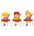 group girl students vector image vector image
