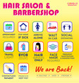 hair beauty salon new rules poster or public vector image