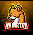 hamster mascot esport logo design vector image vector image