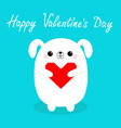 happy valentines day white badog puppy head vector image vector image