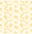 honeycomb seamless pattern print yellow vector image vector image