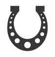 horse shoe luck icon vector image