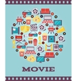 I Love Movies Concept Graphic Designs vector image