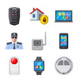 isolated object of office and house symbol set of vector image