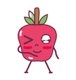 kawaii cute funny apple fruit vector image vector image
