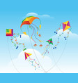 kites flying in sky vector image vector image