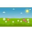 Landscape of flower spring vector image vector image