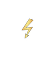 Lightning computer symbol vector image vector image
