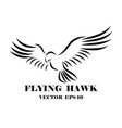 logo hawk that is flyin eps 10 vector image vector image