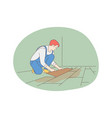 manual worker professions for man job concept vector image vector image