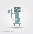 medical ventilator flat medical symbols vector image