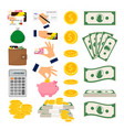 money icons big collection vector image