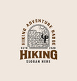 mountain adventure lineart logo template vector image