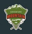 mountains travel emblem sticker label vector image vector image