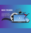 movie streaming concept design template vector image