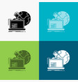 outsource outsourcing allocation human online vector image