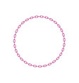 pink chain in shape of circle vector image vector image