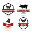 Pork label vector image vector image