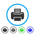 print rounded icon vector image vector image