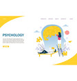 psychology website landing page design vector image