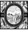 Pumpkin harvest black and white vector image vector image