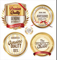 quality golden labels collection vector image vector image