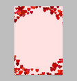 random heart page background design - love vector image vector image