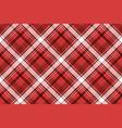 red tartan fabric texture vector image
