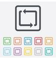 Repeat icon Loop symbol Refresh sign vector image vector image