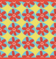 retro flowers seamless background 1960s vector image