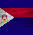 saint martin flag flag of saint martin blowig in vector image