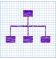 scribble icon on school paper vector image vector image