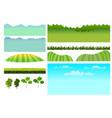 set game elements elements for mobile vector image