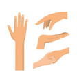 set hands gesture with nails and fingers vector image vector image